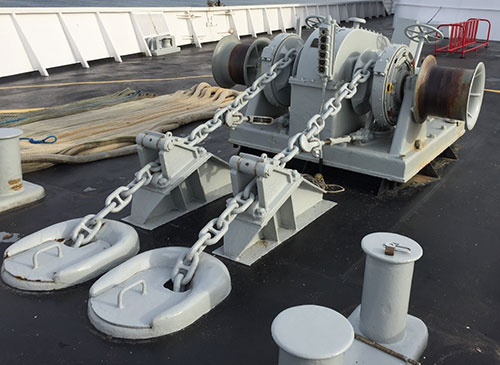 Anchor Windlasses designed and produced by the maritime welding and marine construction company Markey Machinery