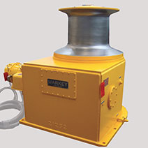 Capstans, designed and produced by the maritime welding and marine construction company Markey Machinery