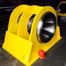 Specialty Winch designed and produced by the maritime welding and marine construction company Markey Machinery